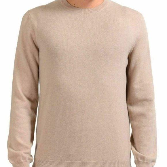 Malo Mens Crewneck Gray 100/% Cashmere Sweater